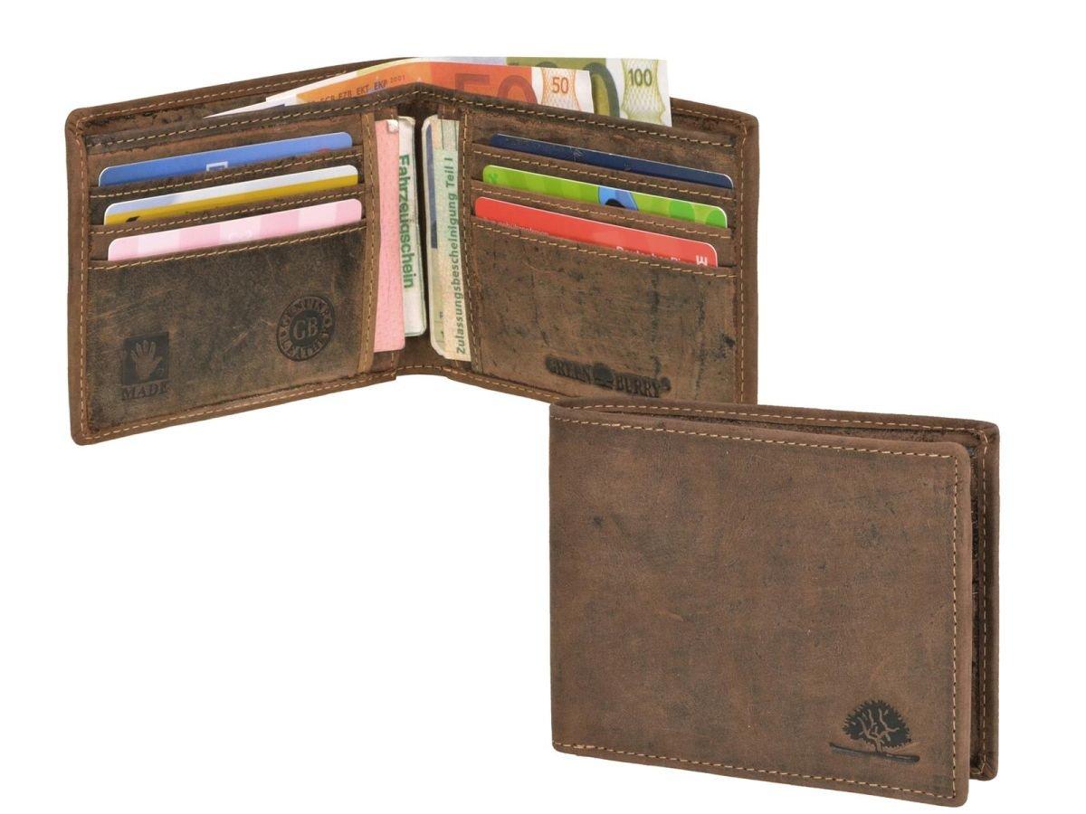 370c7370a586a Geldbörse Leder Herren braun ohne Münzfach VINTAGE 1705CC ...